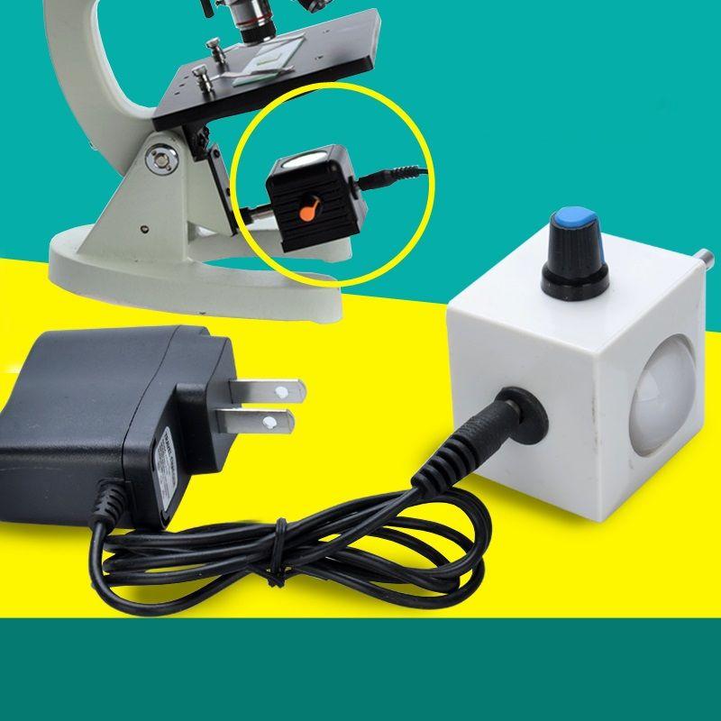 Bio Microscope Adjustable LED Light Bottom Supplementary Source lamp lighting 110V - 220V with Plug