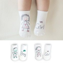 New Arrival Newborn Socks Cartoon 100% Cotton Baby Socks No-slip Infant Cotton Socks