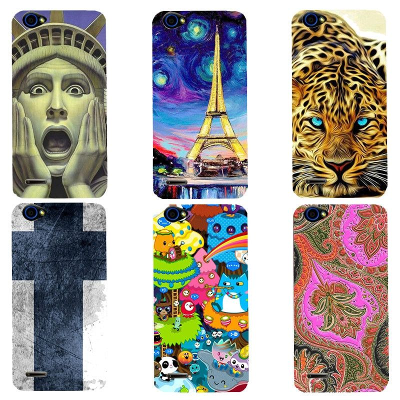 For ZTE Blade L4 T610 A460 Case Luxury Cute Soft Silicone Cartoon Printing Cover Original Phone Back Shell Capa New Fashion