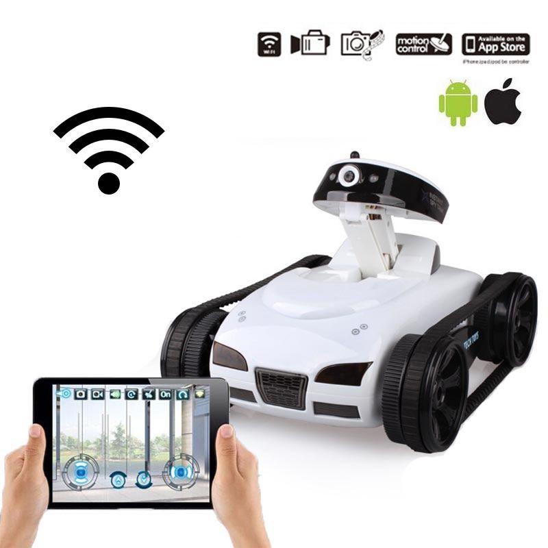 Jouet télécommandé Happy Cow 777-270 Mini voiture WiFi RC avec caméra Support IOS téléphone Android Transmission en temps réel réservoir RC FSWB