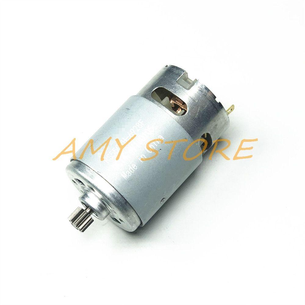 RS550 Moteur 17 14 15 11 12 Dents 9 Dents 7.2 9.6 10.8 12V 14.4V 16.8 18V 21 25VGear 3mmShaft Pour Sans Fil Charge Perceuse Visseuse