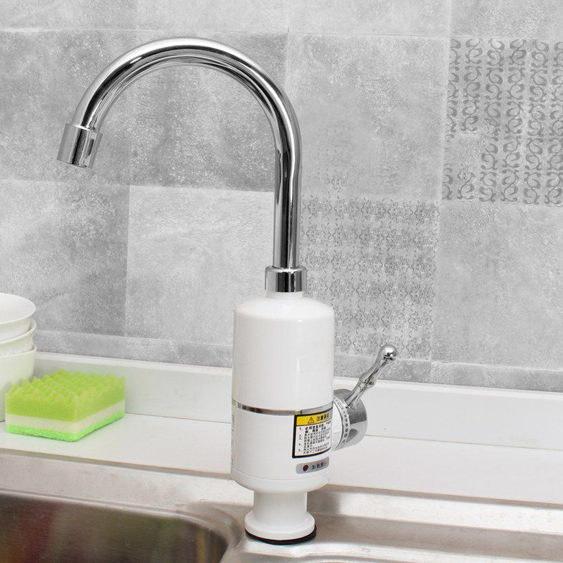 KBAYBO 3000W Instant Tankless Water Heater Electric Shower Faucet Kitchen Instant Heating tap Water heater with EU plug