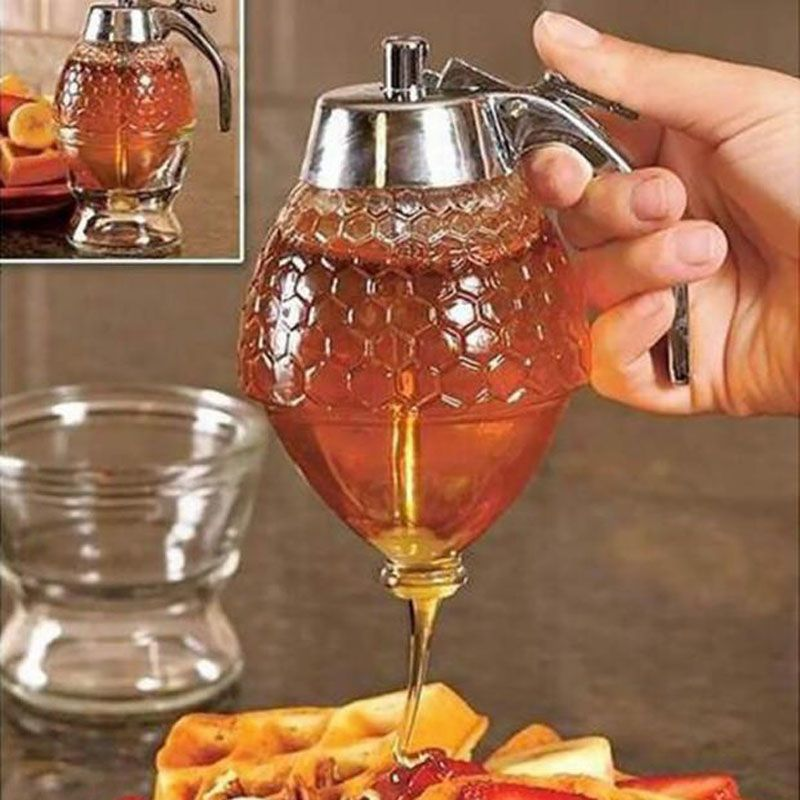Acryl Tough Honig Pfannkuchenteig Spender Sirup Dispenser Sauce Küche Vorratsglas Kochen Werkzeuge TB Verkauf