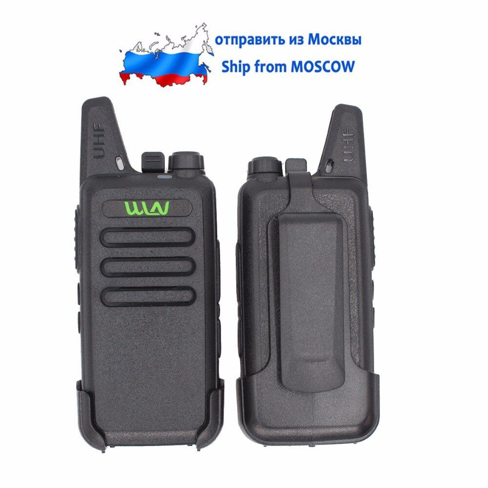 WLN KD-C1 Walkie Talkie Two Way Radio in RUSSIA 5W long range Ultra-Thin Mini Two-Way radio UHF 400-470MHz with FREE belt clip
