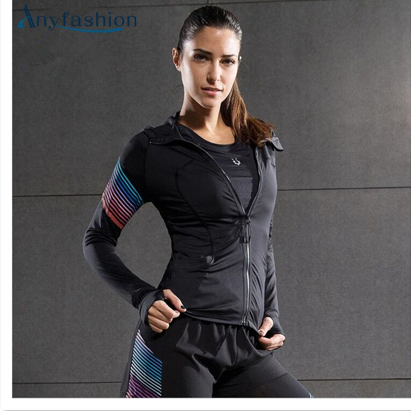 Women's Yoga Shirts Long Sleeve Tight Yoga Tops Sportswear Fitness Quick Dry Breathable Tracksuit Women's Running Jacket
