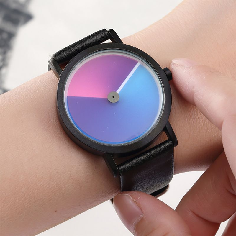 Einzigartige Minimalistischen Kreative Uhr Geek Wirbel Neue Mode Design Marke Luxus Armbanduhr Für Männer Frauen Einfache Quarz Geliebte Uhr