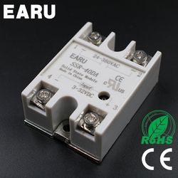 1 шт. 3-32VDC к 24-380VAC SSR-40DA твердотельные реле модуля SSR-40 да ССР 40A для pid регулятор температуры трансформатор напряжения