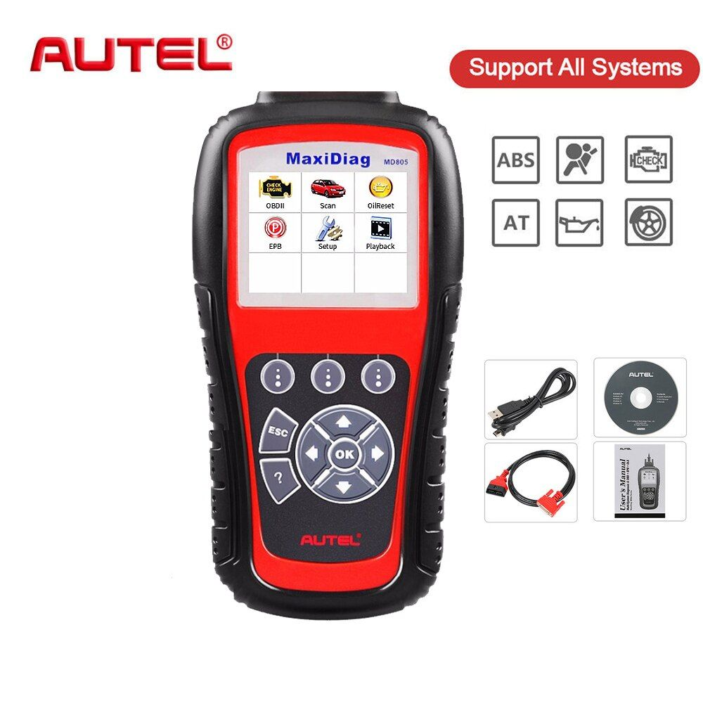 Autel Original Car Diagnostic Tool All System OBD2 Automotive Scanner MD805 OBD Code Reader Scan Tools Escaner Automotriz Tool