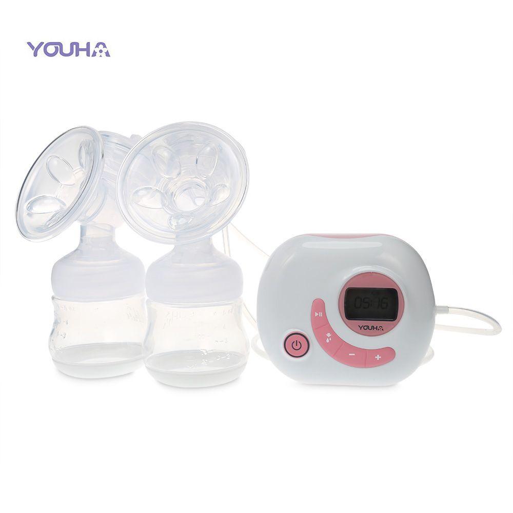 YOUHA Elektrische Smart Chip Doppel Brust Pumpen Baby BPA FREI Aufladen Brust Pumpe Brust Fütterung Brust Milch Saugnäpfe Baby Fütterung