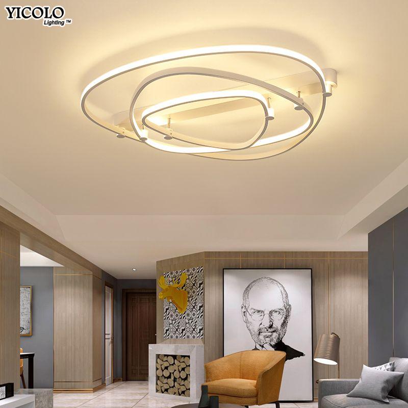 Dimmer led-deckenleuchte mit fernbedienung Acryl lampe decke für schlafzimmer ebene einfassung moderne dekoration leuchte