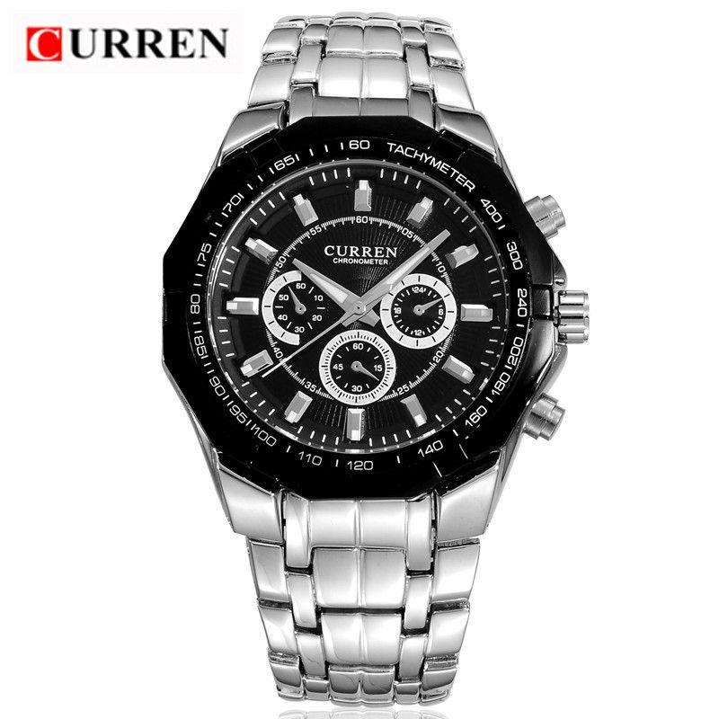CURREN Men's Top Brand Luxury Full Steel Quartz Watches Military Sports Men Casual Waterproof Wristwatch Hot Sale Dropshipping