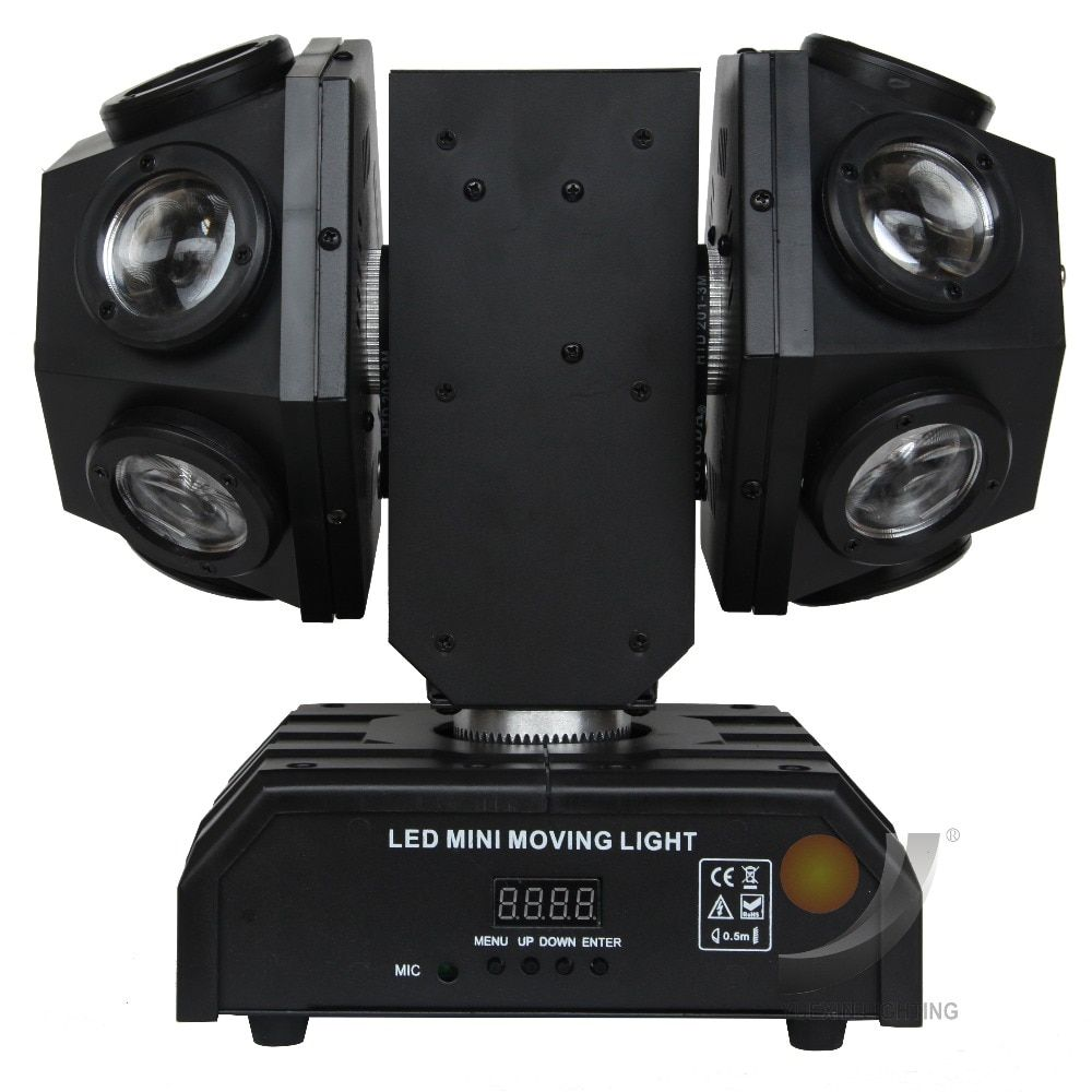 mini 12x10w RGBW 4IN1 LED Moving head beam Double Arms stage light