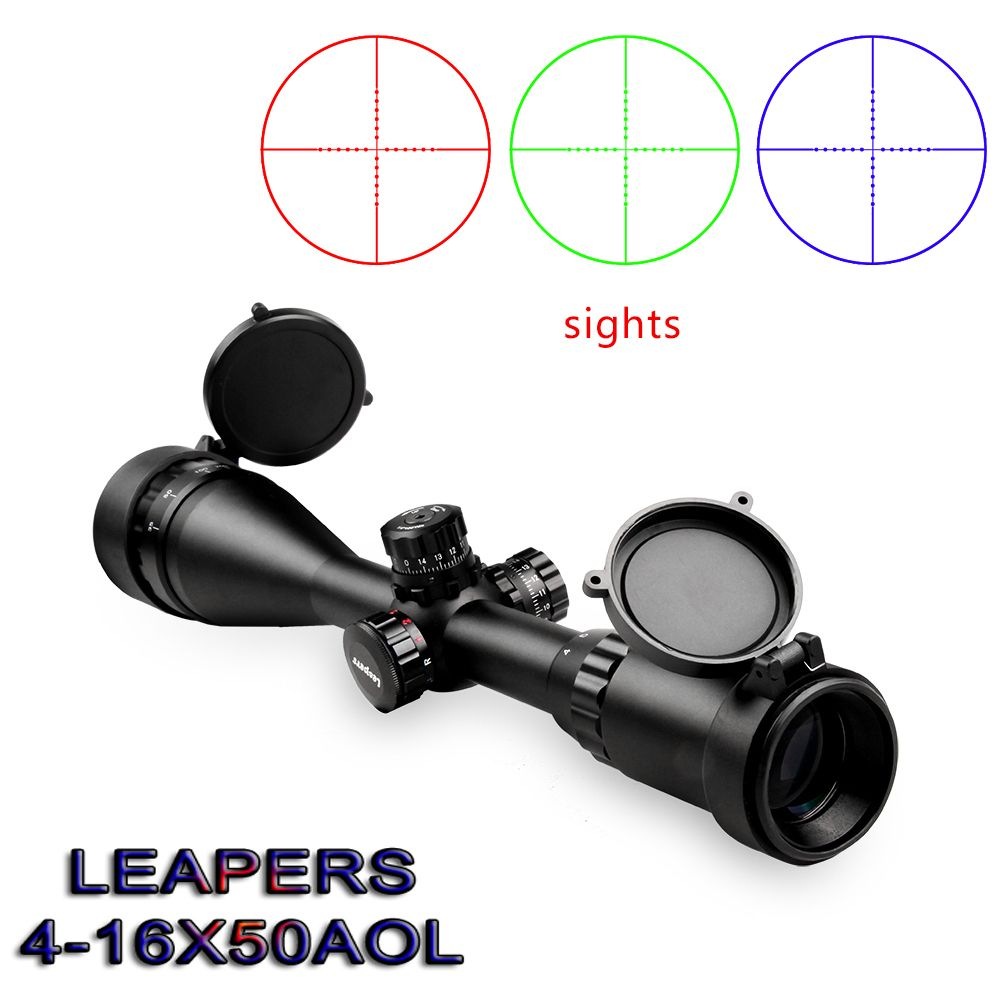 Famous Brand LEAPERS 4-16X50 Optical Sight Riflescope military use Outdoor Hunting Scope Air Rifle Sniper rifle special cope