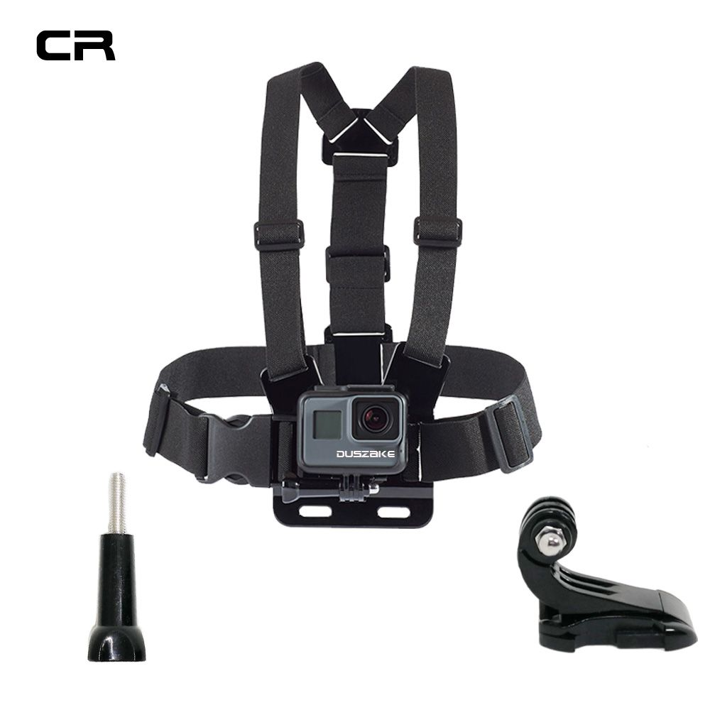 Duszake Shoulder Strap Accessories For Gopro Mount Action Camera Accessories For Go pro Hero 5 6 Chest For Gopro Xiaomi Yi 4K