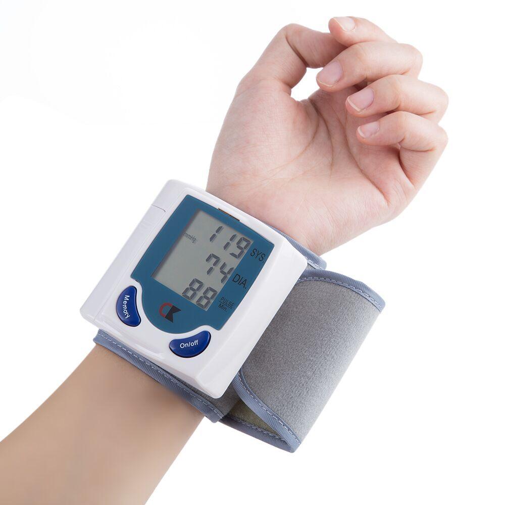 Household Medical Wrist Blood Pressure Monitor LCD Digital Tonometer Automatic Sphygmomanometer Tensiometer Bp Heart Rate Meter