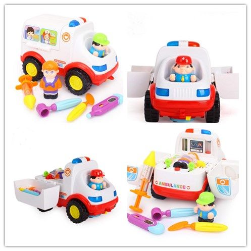 Hot Cars for Electronics Car Toys With Flashing Lights Fancy DIY Toy cars Intelligent ambulance car for christmas gift