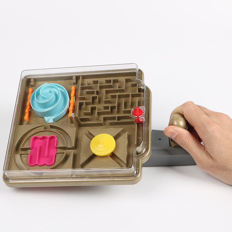 3D Handle Control Maze Ball Plastic Ball Maze Marble Puzzle Game Improve control Balance ability IQ Educational Gift