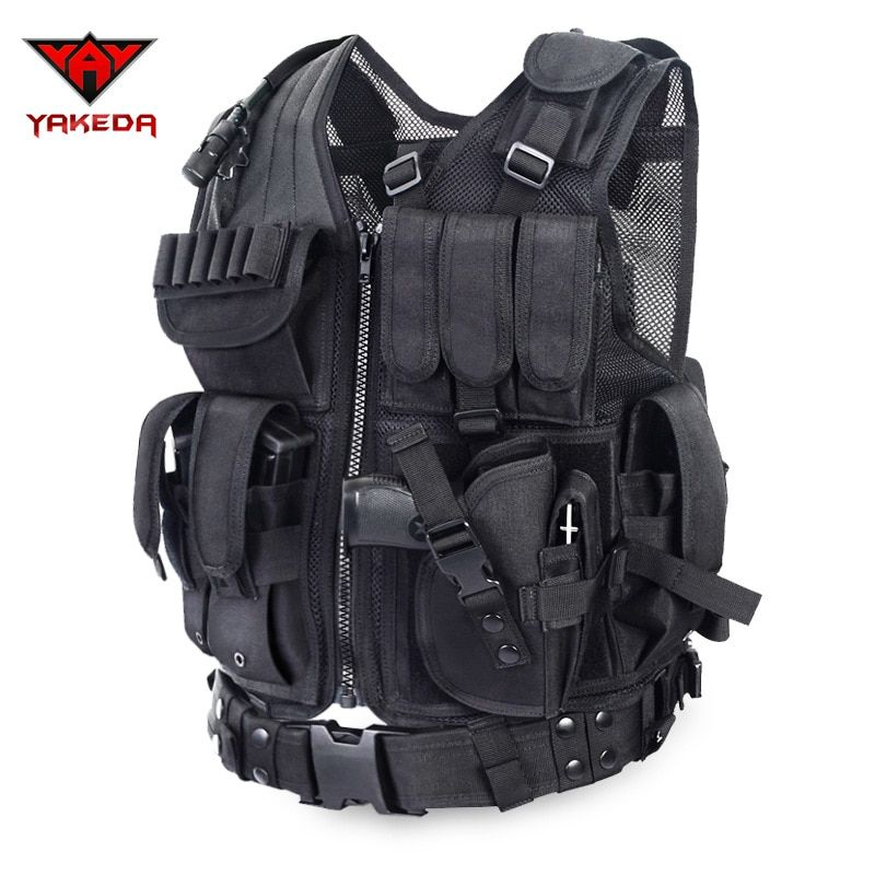 2016 Police Tactical Vest Outdoor Camouflage Military Body Armor Sports Wear Hunting Vest Army Swat Molle Vest Black