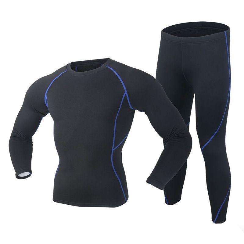 2019 nouveau hiver hommes sous-vêtement thermique ensemble Polartec élastique velours Long Johns épais chaud Thermo sous-vêtements respirant collants 3XL