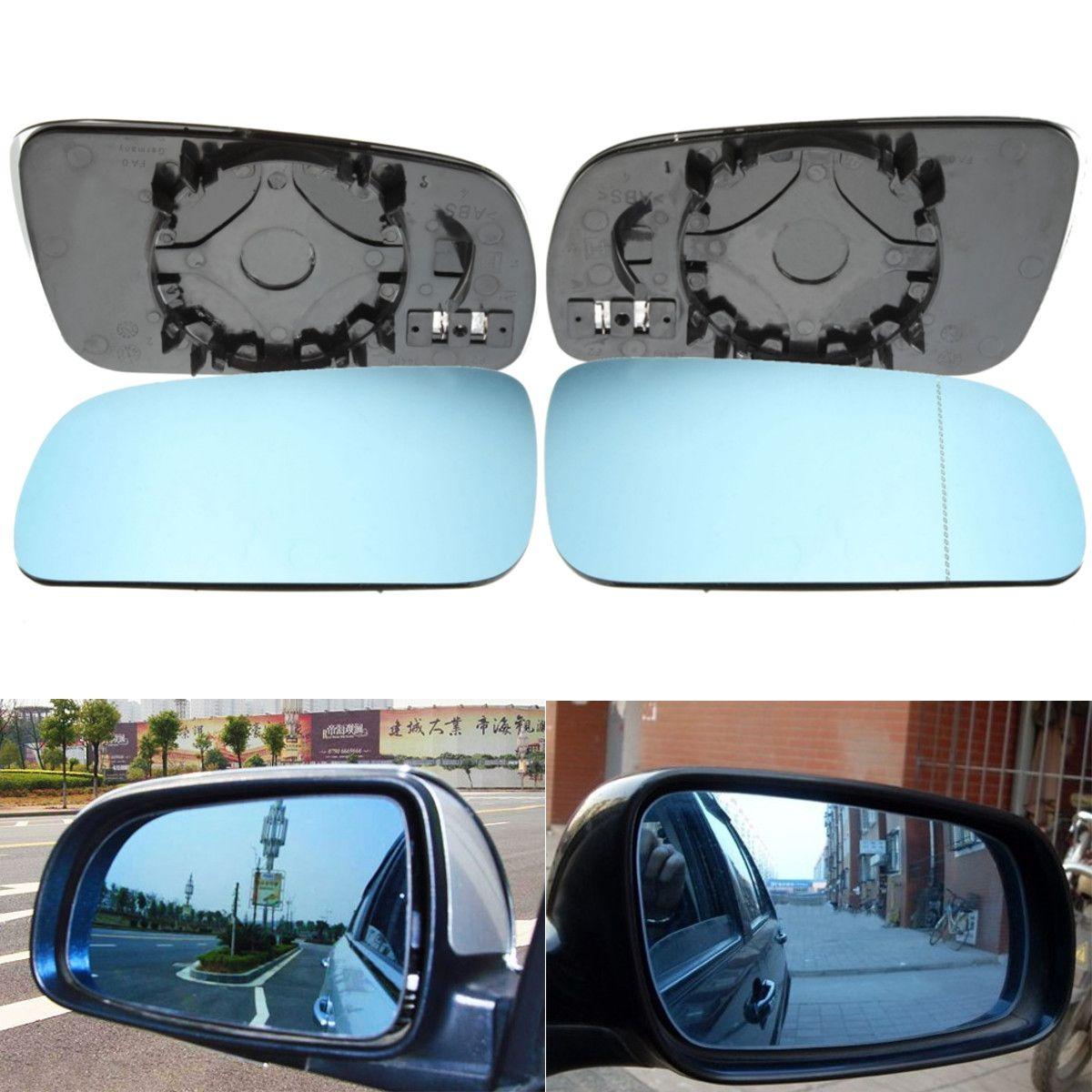 Pairs Rechts + Links Seite Blau Beheizte Tür Flügel Spiegel Glas Für VW Golf MK4 96-04