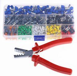 800 Pcs Kawat Kabel Konektor Terminal dengan Tangan Ferrule Crimper Tang Crimp Tool Kit Set AWG 10-23