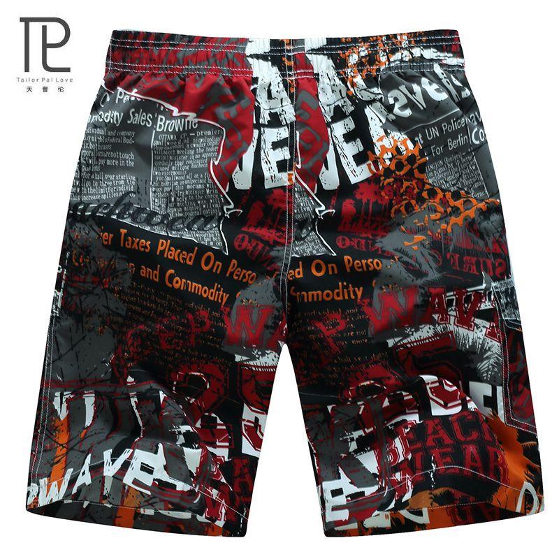 Tailor PAL Love Hot Quick seco hombres Pantalones cortos marca casual Beach short Homme Bermuda verano hombres Bermudas impreso mens corto # B0