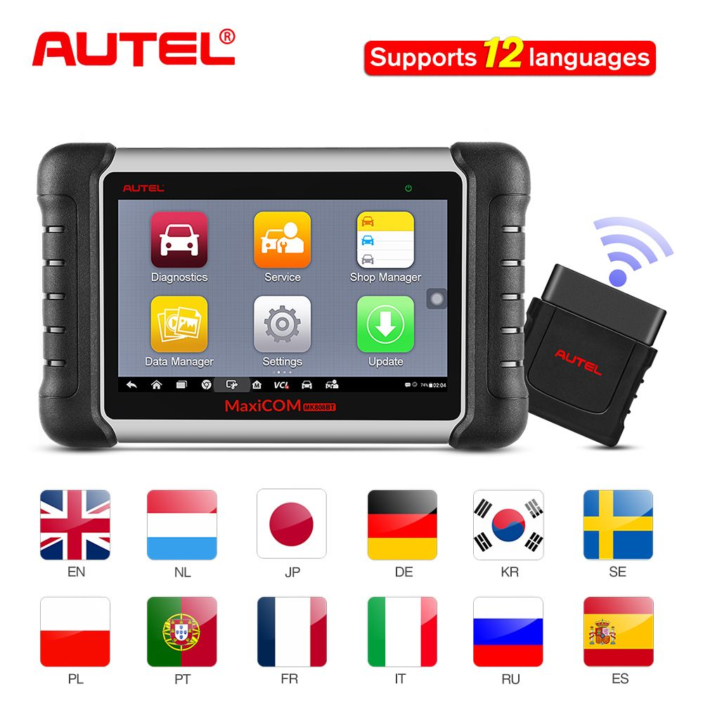 Autel MaxiCOM MK808BT OBD2 Car Diagnostic Tool Automotive Scanner Diagnosis Functions Of EPB/IMMO/DPF/SAS/TPMS Scaner Automotivo