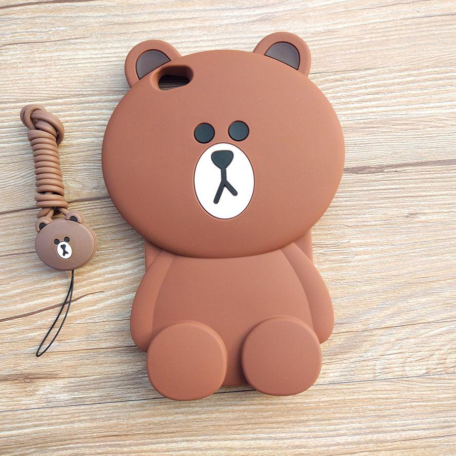 Cute Cartoon 3D Bear Phone Case for Xiaomi Redmi Note 5A Soft Silicone Rubber Cover for Xiaomi Redmi Note 5A Coque Capa