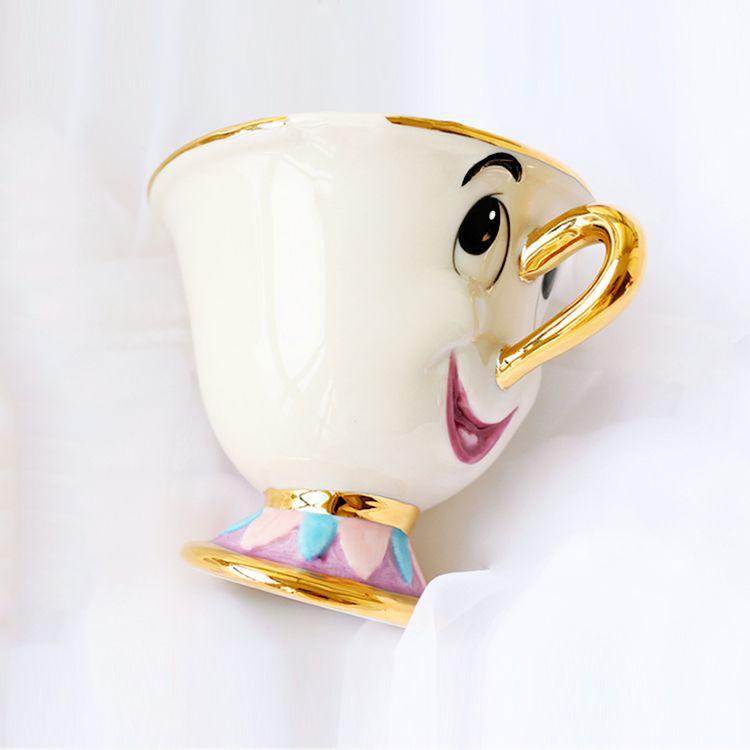 Style ancien offre spéciale une pièce la belle et la bête le fils de mme pots, puce seulement tasse thé tasse à café pour cadeau d'ami