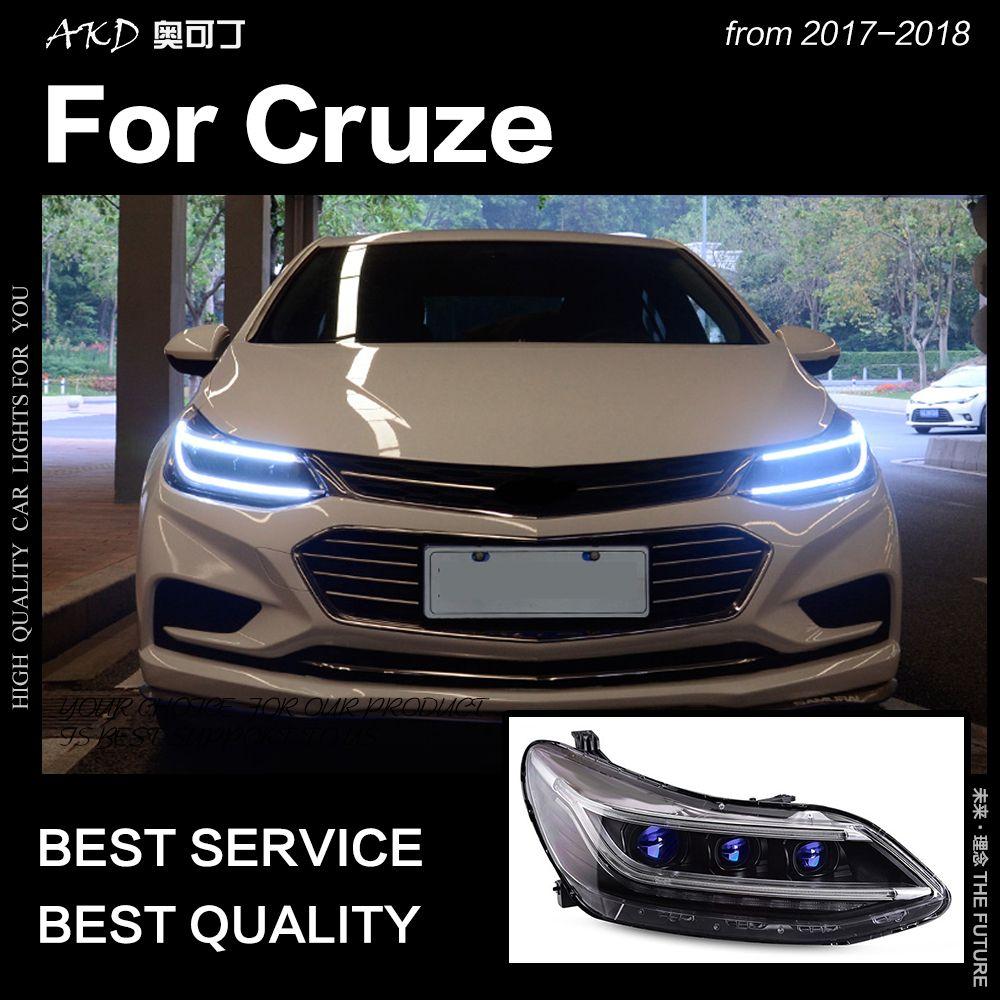 AKD Auto Styling Kopf Lampe für Chevrolet Cruze Scheinwerfer 2017-2018 Alle Neue Cruze LED Scheinwerfer DRL Hid Bi xenon Auto Zubehör