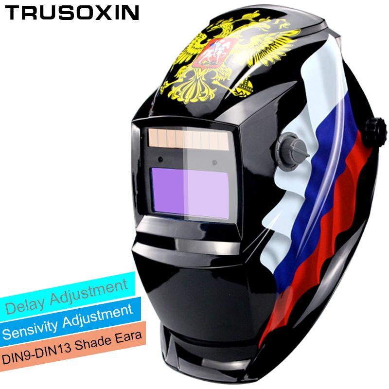 Li batterie/énergie solaire DIN9-DIN13 assombrissement automatique TIG MIG MMA MAG KR KC masque de soudage électrique/casques/soudeur lunettes pour soudeur