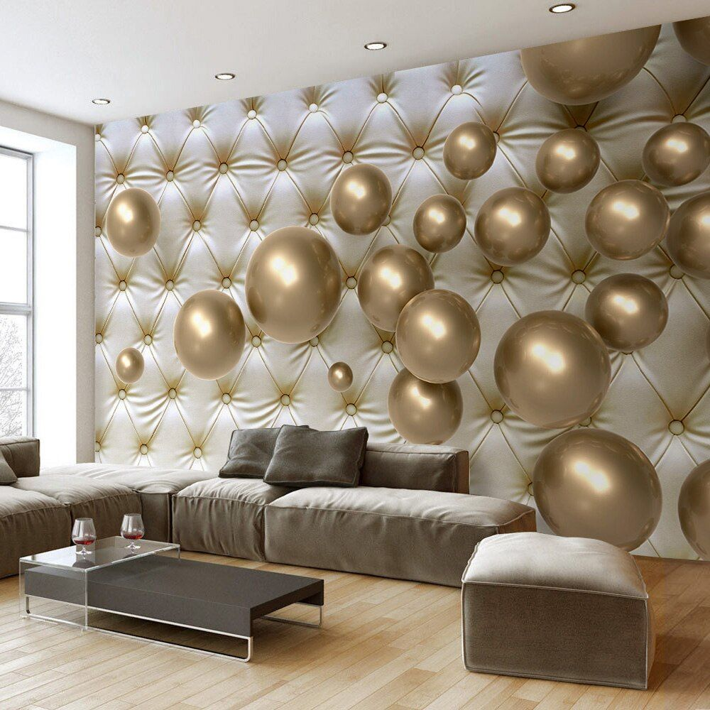 Nach 3D Foto Tapete Moderne 3D Stereoskopischen Goldene Ball Weiche Pack Hintergrund Große Wand Malerei Wohnzimmer Schlafzimmer Wandbild
