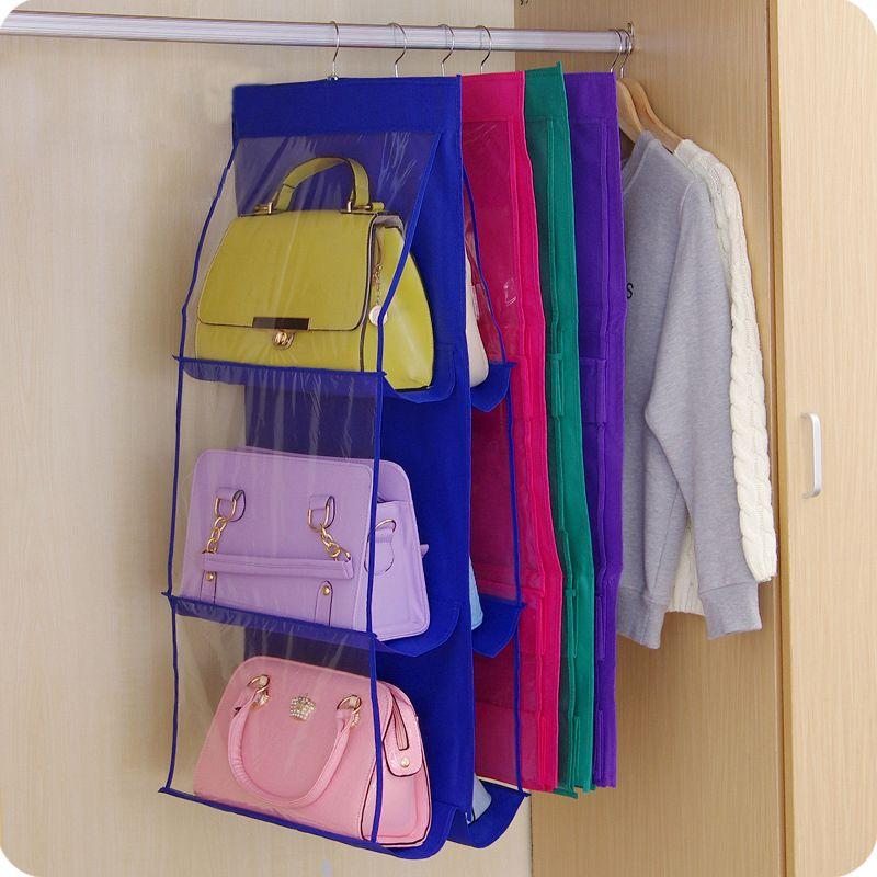 Organisateur familial sac à dos sac à main sacs de rangement être suspendu sac de rangement de chaussures haute maison fournitures 6 poche placard Rack cintres