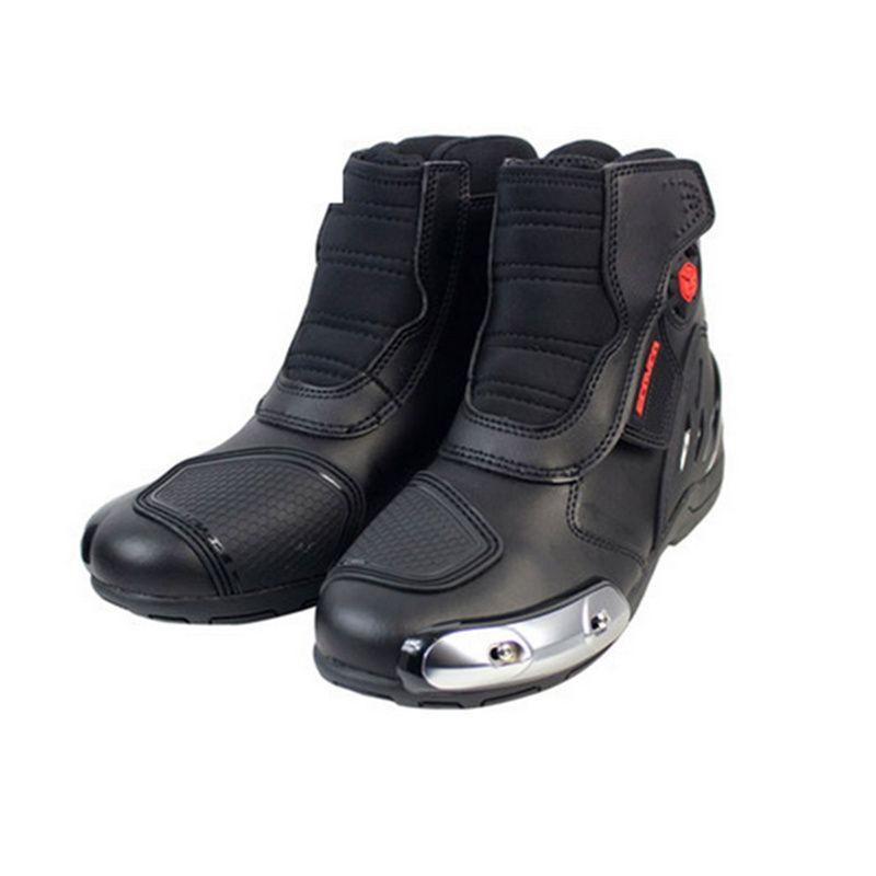 SCOYCO Motorrad Reitstiefel Mikrofaser Leder Motocross Off-Road Racing Stiefeletten Straße Reiten Schuhe Schutzausrüstung