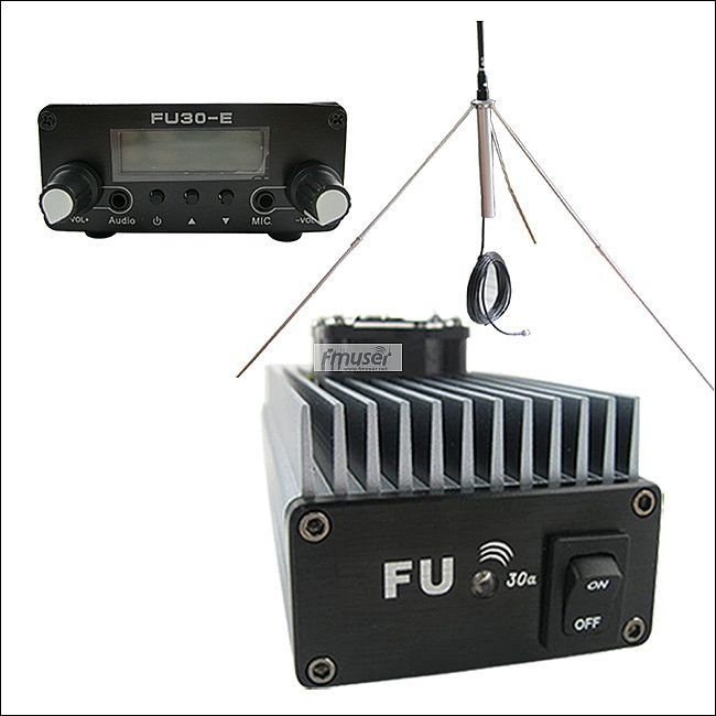 FMUSER 30 Watt Professionelle FM verstärker sender 85 ~ 110 MHz fmuser FU-30A gp-antenne kit