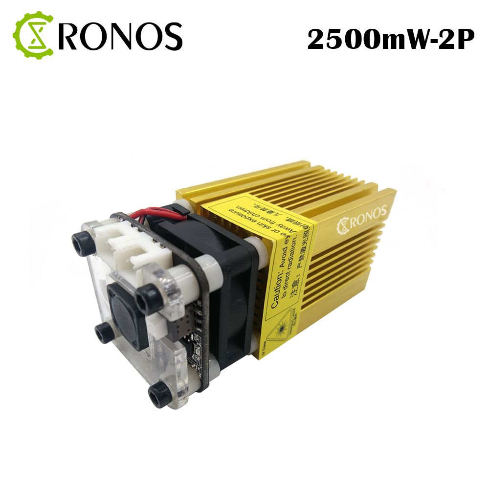 NEW 445nm-2500mw Gold Module Laser DI Messa A Fuoco Blue Laser Incisione Laser Testa, 2.5W Tubo Del Laser Diode 2p Port