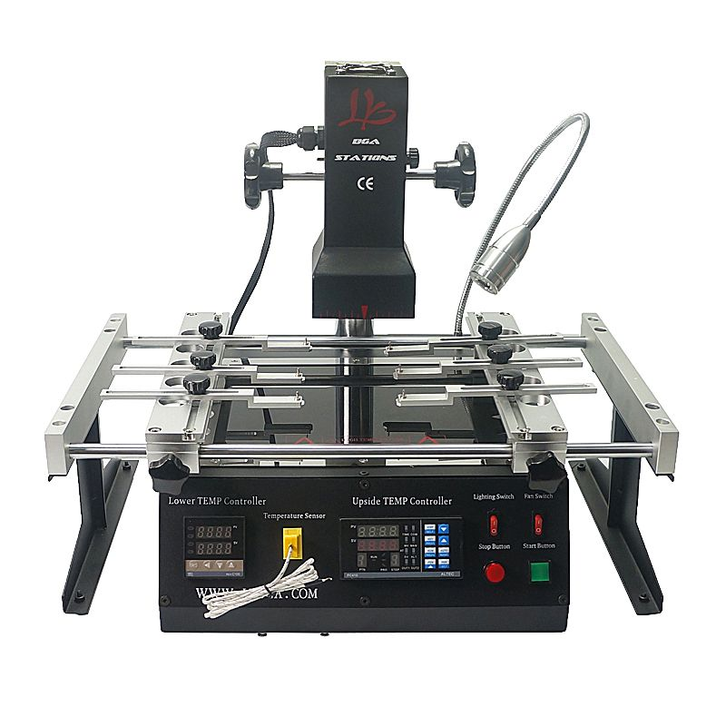 LY IR6500 V.2 infrared BGA rework station bigger preheat area 240*200mm free tax to RU
