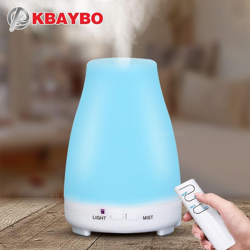 KBAYBO 200 ml Aroma Huile Essentielle Diffuseur d'air à ultrasons Humidificateur aromathérapie machine à vapeur Froide brumisateur pour Bureau et Bébé