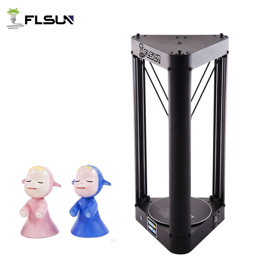 2018 Flsun-QQ Delta Kossel 3D Printer Touch Screen Wifi Module Large Printing Area 260*260*370mm ,one roll of filament as gift