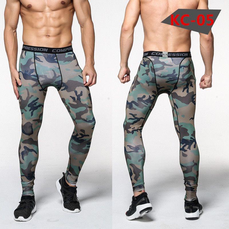 Neue Camouflage Hose Männer Kompression Hose Elastische Jogginghose Hebe Bodybuilding Haut Strumpfhosen Hosen Marke Kleidung Pantalon