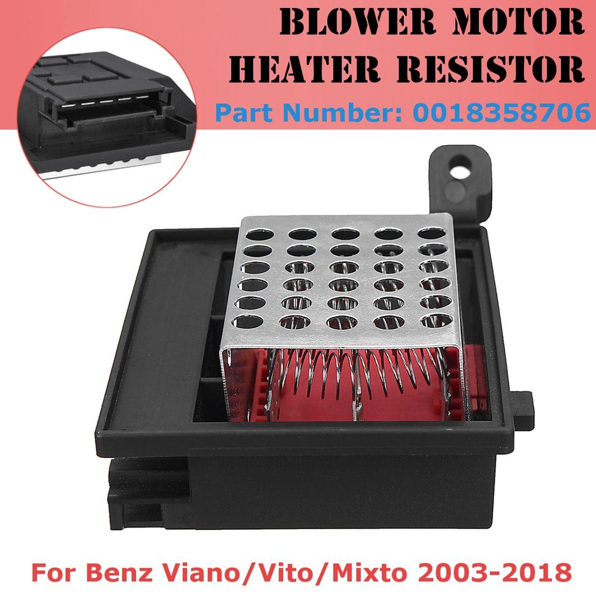 OE/OEM Number 0018358706 A0018358706 9ML351332-2 Blower Fan Motor Heater Resistor Control for Benz Viano Vito Vito/Mixto03-18
