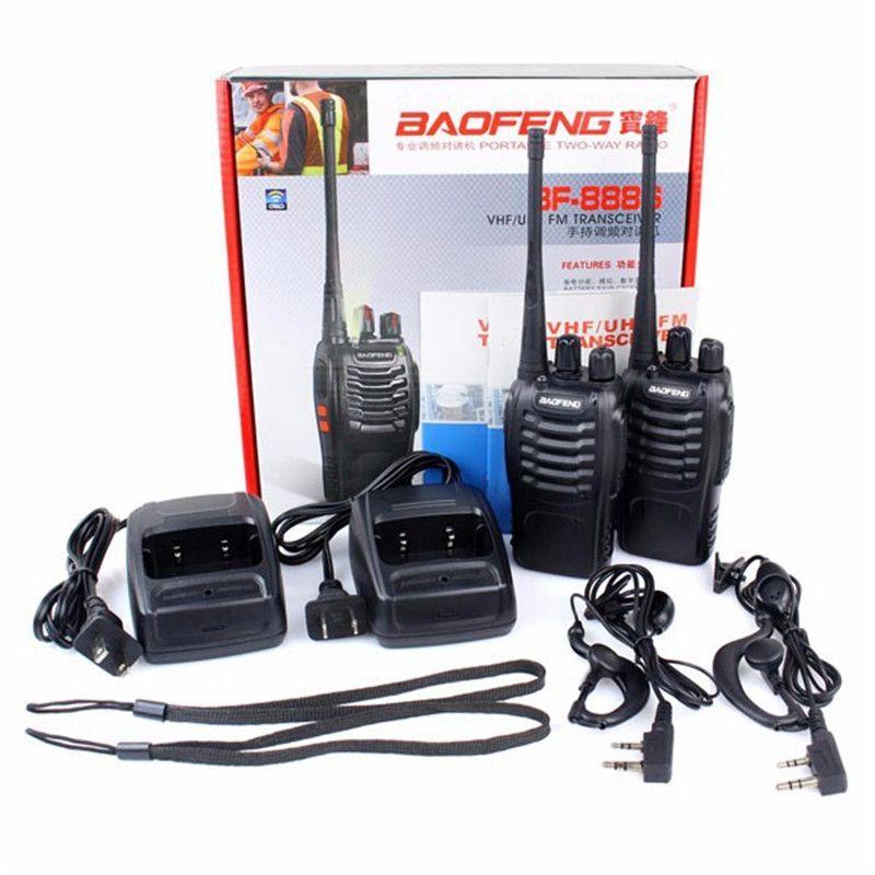 2pcs NEW Baofeng BF 888S Walkie Talkie UHF 400-470MHz 5W 16 CH VOX Flashlight Scan Monitor Voice Portable Radio