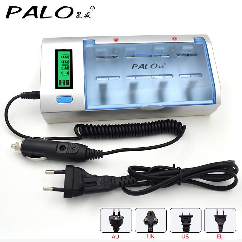 Chargeur de batterie d'affichage à cristaux liquides de 4 fentes d'utilisation Multi de C906W pour la batterie Rechargeable de Nimh Nicd AA/AAA/C/D/9 V