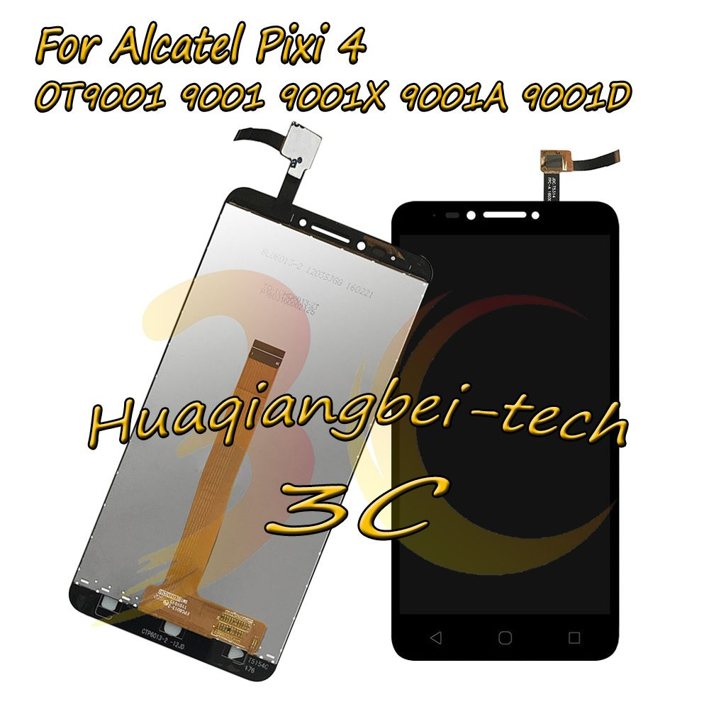 6.0'' New For Alcatel Pixi 4 OT9001 9001 9001X 9001A 9001D Full LCD DIsplay + Touch Screen Digitizer Assembly 100% Tested