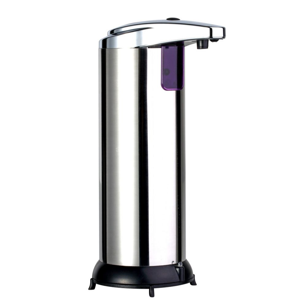 Home Eco-Friendly Stainless Steel Hands Free Automatic IR <font><b>Sensor</b></font> Touchless Soap Liquid Dispenser 280ML Metal Silver& Black