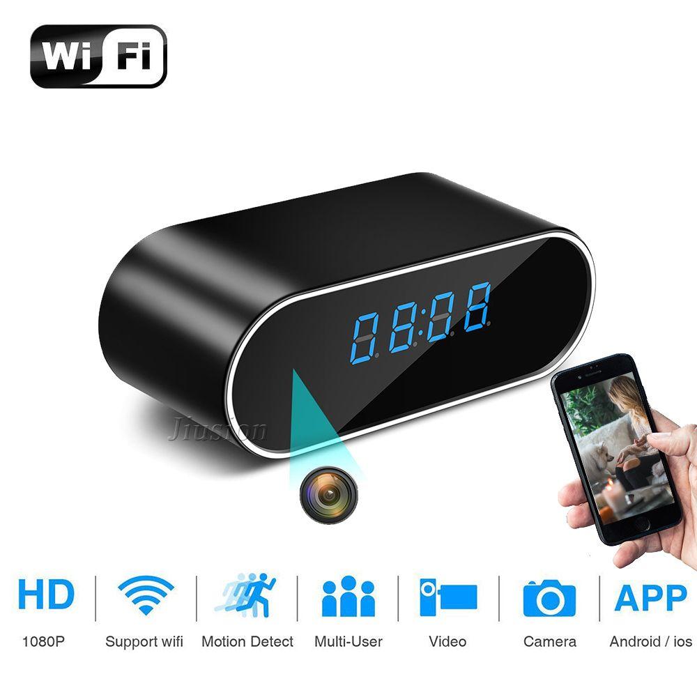 H.264 WiFi horloge de Table Mini caméra 1080 P HD IP P2P DVR caméscope alarme ensemble Vision nocturne capteur de mouvement moniteur à distance Micro caméra
