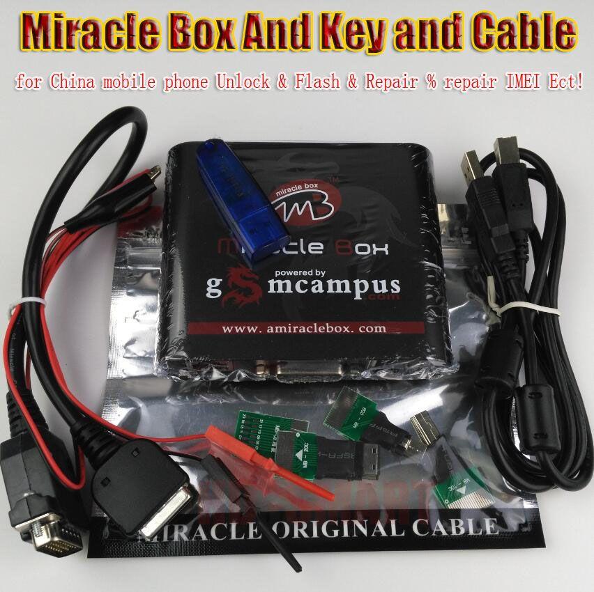 Freies schiff Original Miracle box + Wunder schlüssel mit kabel (V2.98 hot update) für china handys Entsperren + Reparatur entriegeln