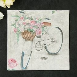 Новые винтажные велосипедные цветы бумажные салфетки кафе вечерние тканевые салфетки украшение в технике декупажа бумага 33 см * см 33 см 20 шт...