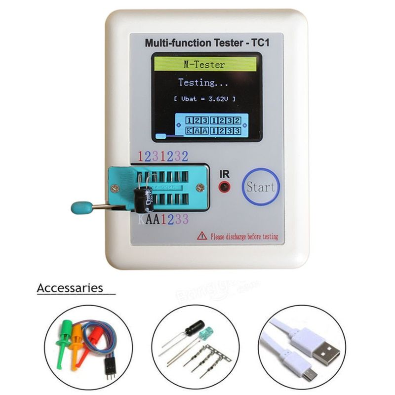 2018 Transistor tester Diodes diodes LCR - TC full color graphics display