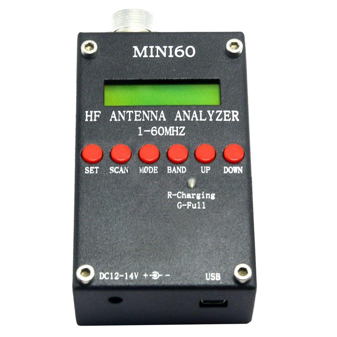 Mini60 Sark100 HF ANT SWR Antenna Analyzer Meter Bluetooth Android APP Black
